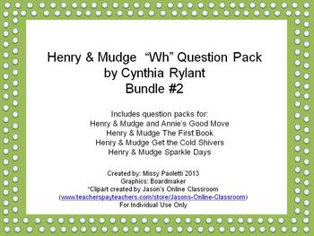 Henry & Mudge by Cynthia Rylant 4 Story Bundle #2