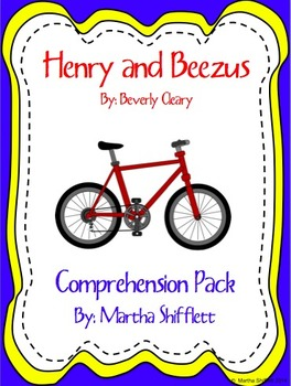 Henry and Beezus Comprehension Pack