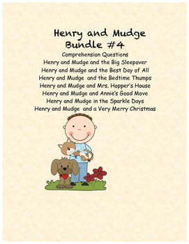 Henry and Mudge Comprehension Questions Bundle #4