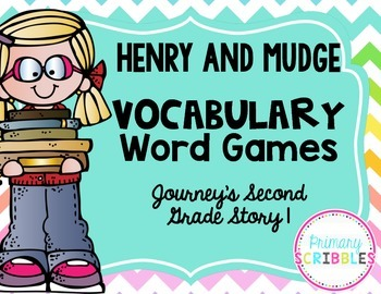 Henry and Mudge Vocabulary Games~Goes along with Journey's