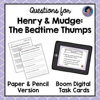 Henry and Mudge and the Bedtime Thumps ~ Reading Comprehen