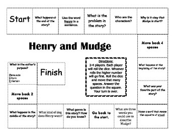 """""""Henry and Mudge"""" the first book Journeys comprehension ga"""