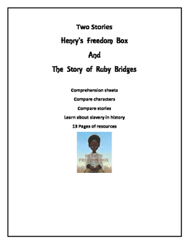 Henry's Freedom Box and Ruby Bridges Pcture Book