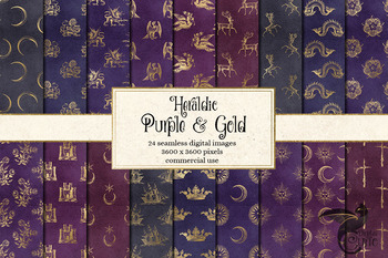 Heraldic Crests, Heraldry Digital Scrapbook Paper Royal Ba