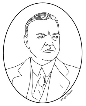 Herbert Hoover (31st President) Clip Art, Coloring Page or