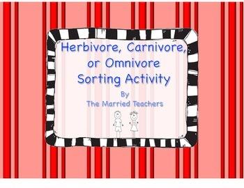 Herbivore, Carnivore, or Omnivore Sorting Activity Foldable