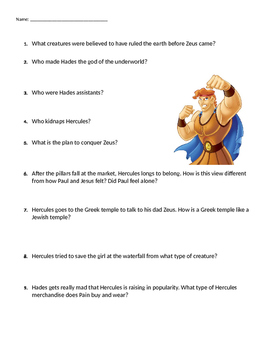 Hercules Movie Guide