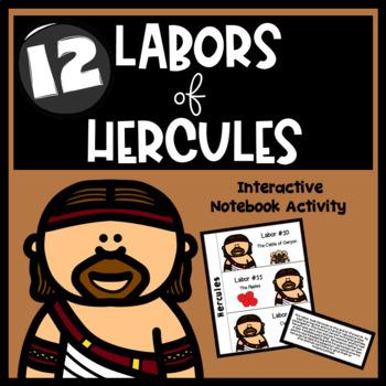 Hercules and the Twelve Labors Interactive Notebook Activity