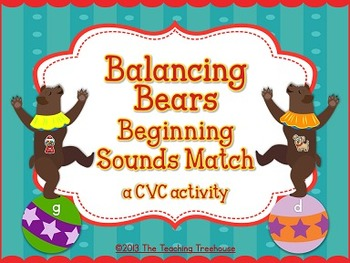 Circus Beginning Sounds Activity