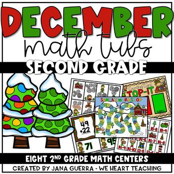 Here Comes Santa! December Math Tubs (2nd GRADE)