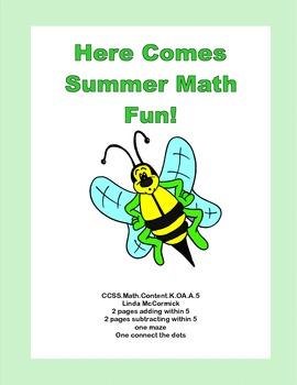 Here Comes Summer Math Fun for Kindergarten CCSS.Math.Cont