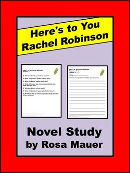 Here's to You Rachel Robinson Novel Study