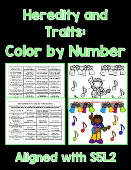 Heredity and Traits Color By Number