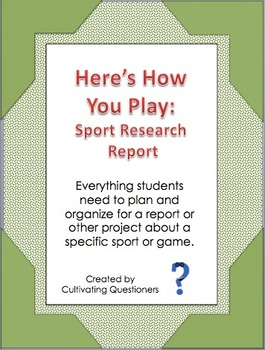 Here's How You Play: Sports Research Kit for Sports Writin