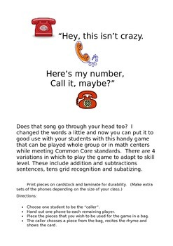 Here's My Number, Call Me Maybe?