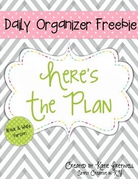 Daily Organizer FREEBIE
