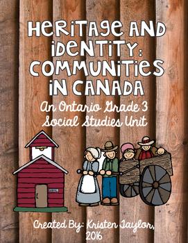 Heritage and Identity - Grade 3, Ontatio Social Studies Unit