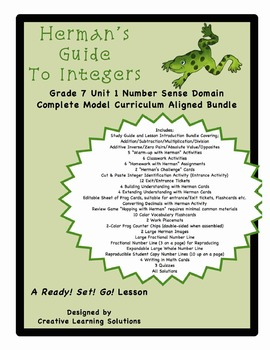 Herman's Guide To Integers; Complete Gr. 7 Number Sense Unit