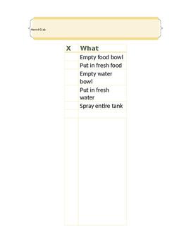 Hermit Crab Care Checklist