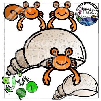 Hermit Crab Clipart Bundle