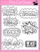 Superhero Theme Action Words Clip Art Set – Personal or Co