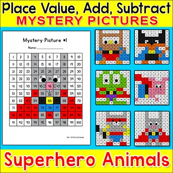 Hundreds Chart Differentiated Math Centers: Place Value, A