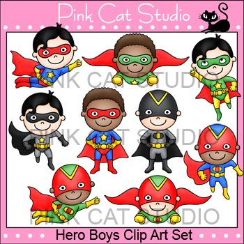 Superhero Boys Clip Art