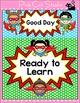 Behavior Chart - Superhero Theme Behavior Clip Chart