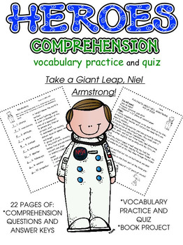 Heroes: Comprehension; Vocabulary; Pop-Up Book Project