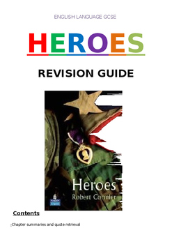 Heroes by Robert Cormier. 47 Page Activity Booklet