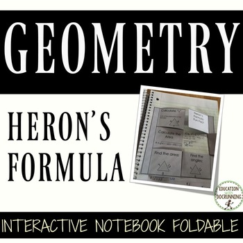 Heron's Formula Interactive Notebook Foldable for Triangles