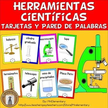 Spanish Scientific Tools Vocabulary