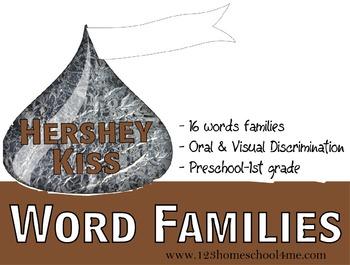 Hershey Kiss Word Families