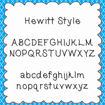 Hewitt Style Font {personal and commercial use; no license