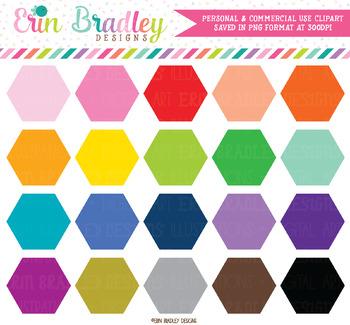 Hexagon Clipart Shapes