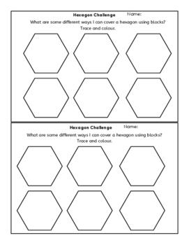 Hexagon Cover it 2D shape challenge