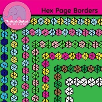 Hexagon Page Borders