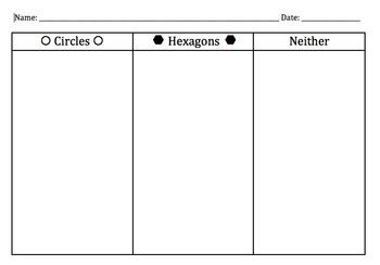 Hexagon and Circle Sort