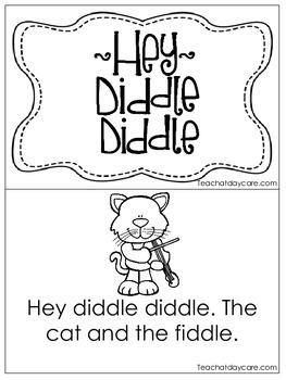 Hey Diddle Diddle Early Emergent Reader. Pre-K and Kinderg