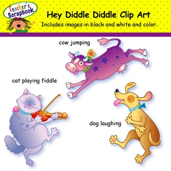 Hey Diddle, Diddle NR Clip Art