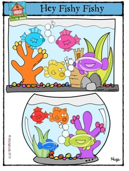 Hey Fishy Fishy {P4 Clips Trioriginals Digital Clip Art}