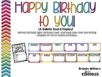 Happy Birthday to You! {A Birthday Board Display & Activities}