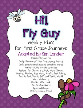 Hi! Fly Guy Journeys First Grade Lesson Plans and Suppleme