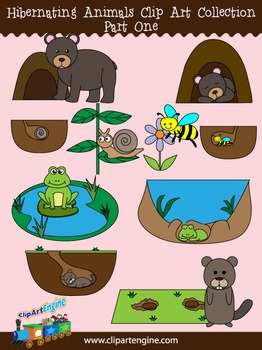 Hibernating Animals Clip Art Collection Part 1