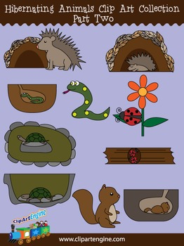 Hibernating Animals Clip Art Collection Part 2