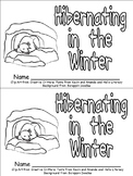 Hibernating Animals Emergent Reader for Kindergarten- Wint
