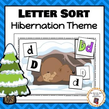 Hibernation Letter Sorting Activity