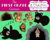 Hibernation & Migration {Digital Clip Art} Bears, Butterfl