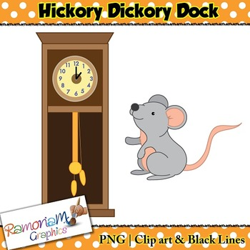 Hickory Dickory Dock Clip art