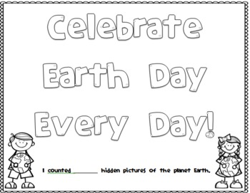 Hidden Earth Picture Page for Earth Day
